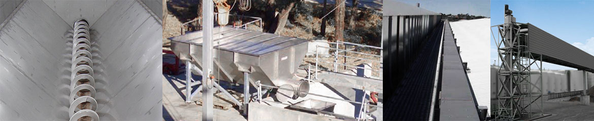 Shaftless Receival Bin, Screening for Wineries & Shaftless Conveying Solutions