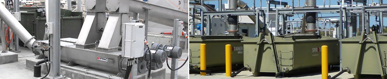 Alkimos SPIROWASH® SPIROTAINER® storing washing dewatering compacting
