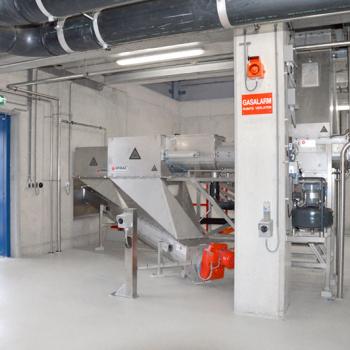 Cellulosic Sludge Dewatering Installation