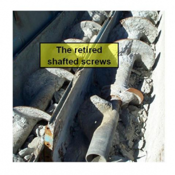 The retired shafted screw
