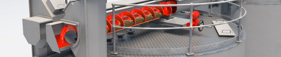 Shaftless Spiral Conveyor Systems with U-trough