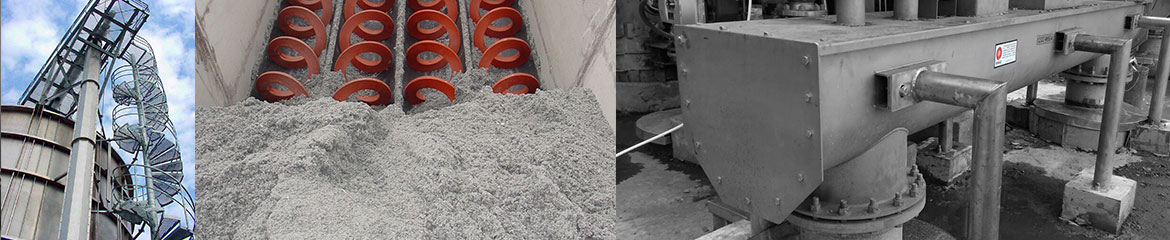 Pulp and Paper sludge, truck receival, storing and conveying