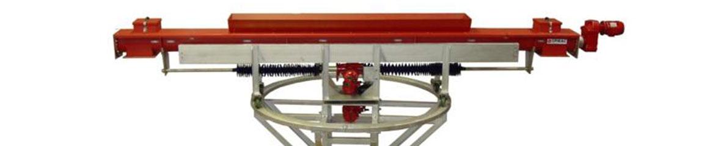 Desalination Plant with fibreglass trough conveyors & Bi-directional conveyor mounted on a turntable