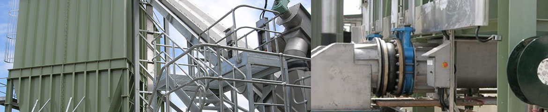 Live Bottom Silo and shaftless spiral conveyor