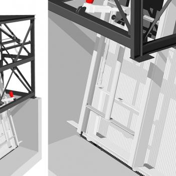 RAKEGUARD 3D mechanischer Stabrostrechen mit einem Rechenelement