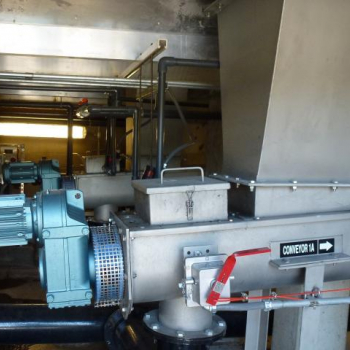 Typical automated sludge conveying system