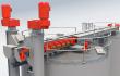 Shaftless Screw Conveyor System on a silo