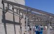 Inclined conveyor U trough