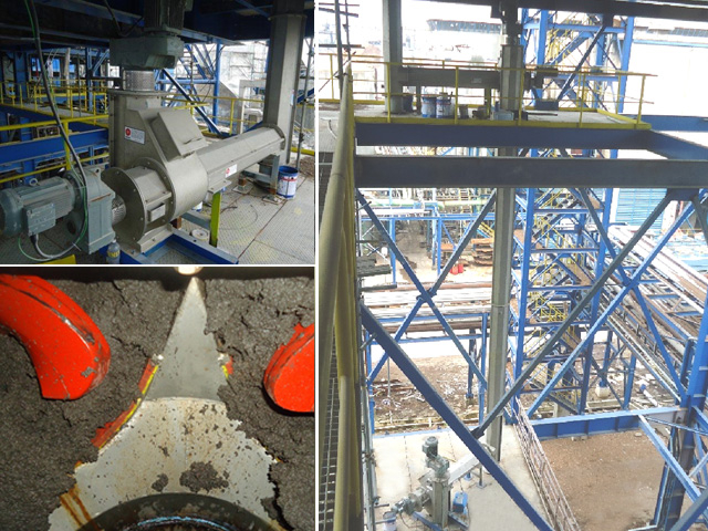 Vertical Sludge Conveyor System
