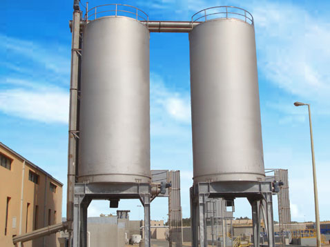 Biosolids Handling and Storage, Sliding Frame Silos & Shaftless Screw Conveyor Systems
