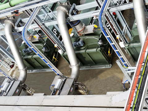 Inlet Works, Shaftless Screw Conveyors